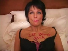 Milf whore for black cock blows and gets ass fucked in a hotel room