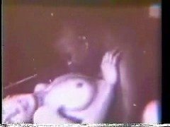Vintage cuckolding with a white wife on her back as a black dick fucks her