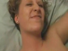 Blonde amateur Euro wife rides huge cock till uncontrollable orgasm