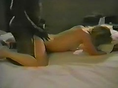 Mad retro interracial sex with my wife suffering from big black cock