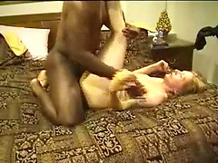 Real wild interracial sex with mature slut taking BBC deep in pussy and ass